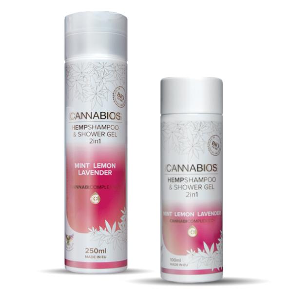 CANNABIOS HEMPshampoo & shower gel mint lemon lavender EKOKUP