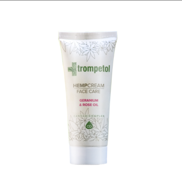 trompetol HEMPcream face care geranium rose oil EKOKUP